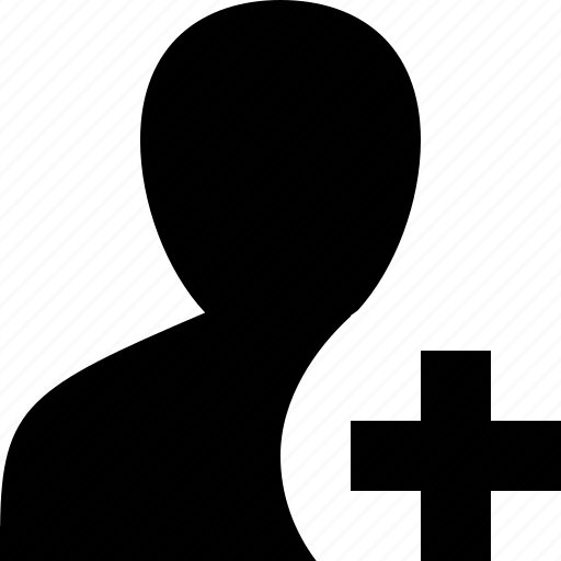 human, male, man, person, plus, user icon