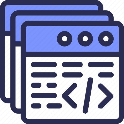 application, code, coding, multitasking, programing, script icon