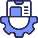 gear, mobile, programing, setting icon