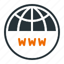 domain, hosting, internet, name, registration, server, www icon