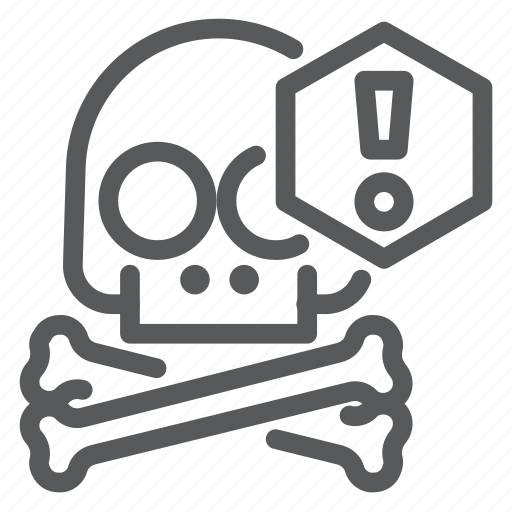 alarm, alert, crossbones, pirate, protection, skull, warning icon