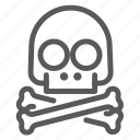 crossbones, danger, hazard, pirate, protection, risk, skull icon