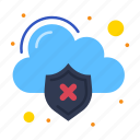 cloud, data, infected, loss, virus icon