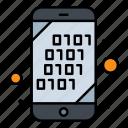 binary, code, mobile, search