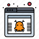 hazard, page, virus, web icon