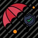 insurance, protection, shield, umbrella