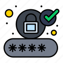 account, authorize, login, security icon