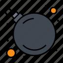 bomb, threat, virus icon