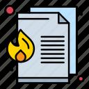 data, document, file, fire, loss