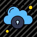 cloud, data, lock, security