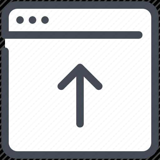 browser, marketing, network, optimization, upload, web, webpage icon