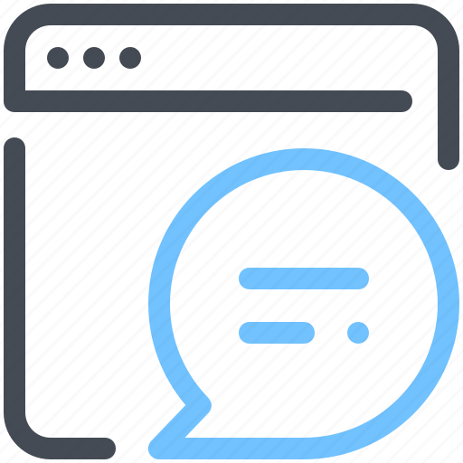 browser, chat, messenger, network, optimization, web, webpage icon