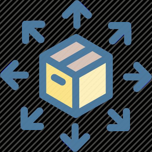 big data, cube, data, data sharing, share, storage icon