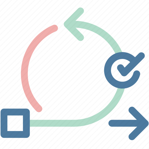 agile, flowchart, itterations, management, project, scrum, workflow icon