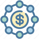 budget, dollar, income, investment, money, profit, revenue icon