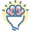 brain, bulb, creative, creativity, idea, productivity, thinking icon