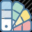 catalogue, color, design, draw, painting, palette, pantone icon