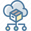 arrows, big data, cloud, data, database, db, storage icon