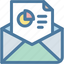 analytics, document, email, mail, report, statistics, subscription icon