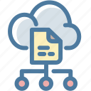arrows, big data, cloud, data, database, file, storage icon