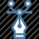 curve, design, illustrator, line, pen, pen tool, points icon