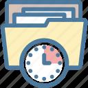 clock, document, documents, file, folder, planning, project
