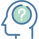 confusion, doubt, frustration, head, question, survey, trouble icon