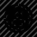 audience, focus, target, targeting icon