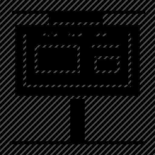 advertising, bill, board, branding, sign icon