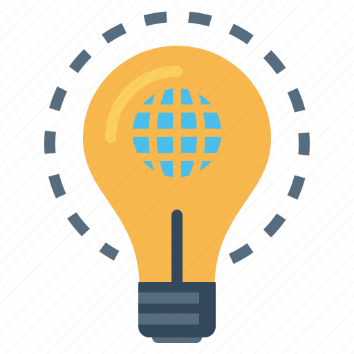 bulb, electricity, explore, idea, innovative, world icon