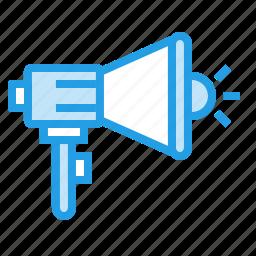 ads, advertisement, advertising, announcement, loud, speaker icon