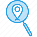 find, gps, locate, location, navigation, pin, search icon