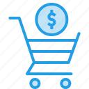 cart, currency, dollar, online, shopping, sign, trolly icon