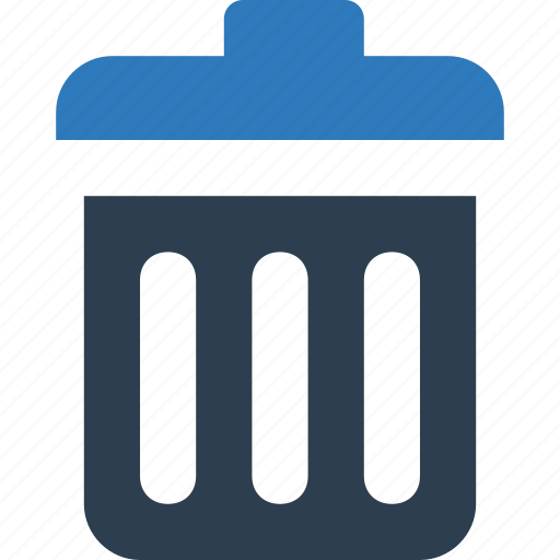 dumpster, garbage can, recycling, trash can icon