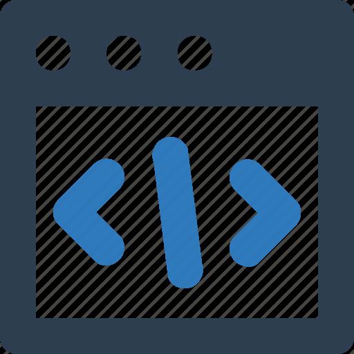 div, div coding, html, html code, html coding, source code icon