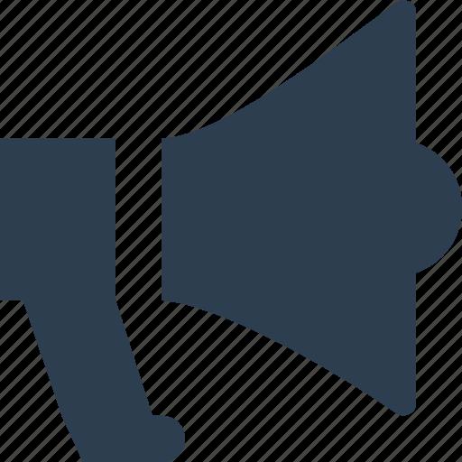 advert, alert, announcement, bullhorn icon