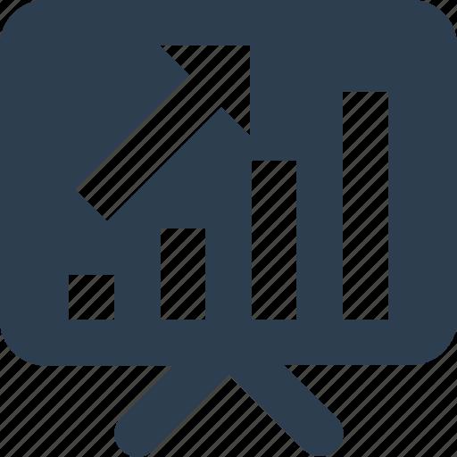 analytics, board, graph board, growth graph icon