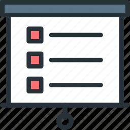 internet, list, presentation, seo, web icon