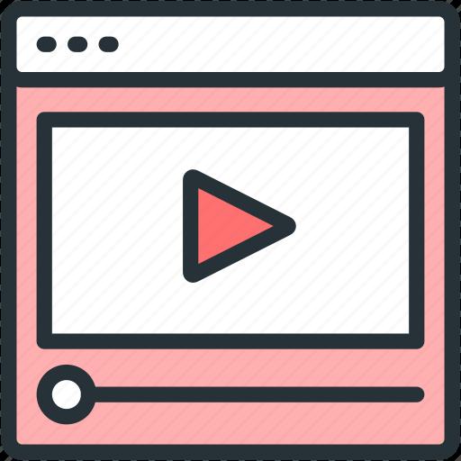 internet, seo, video, watch, web icon