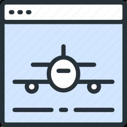 airplane, internet, landing, page, seo, start, web icon