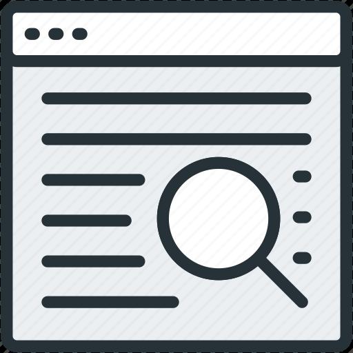 internet, optimization, page, search, seo, web icon