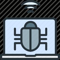 bug, internet, seo, virus, web icon