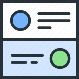 cards, internet, layout, seo, web icon