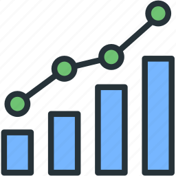 charts, graphs, internet, seo, stats, web icon