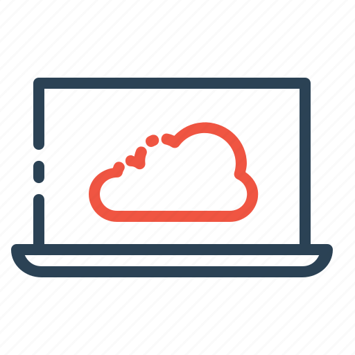 cloud, computer, data, device, laptop, online, storage icon
