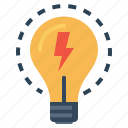 bulb, energy, idea, imagination, innovation, lamp, light icon
