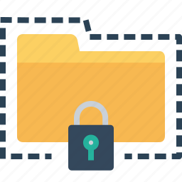 folder, lock, password, protect, secure, seo, tools icon