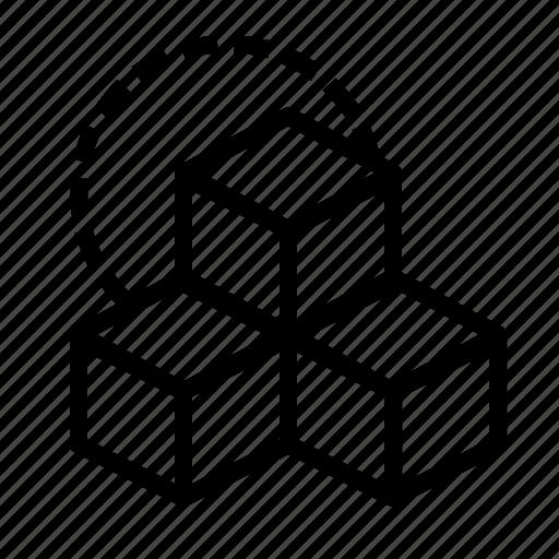 box, cube, cubic, design, inspiration, rubik, three icon