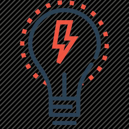 bulb, energy, idea, imagination, innovation, lamp, light icon