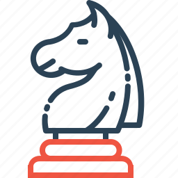 chess, game, horse, knight, mind icon